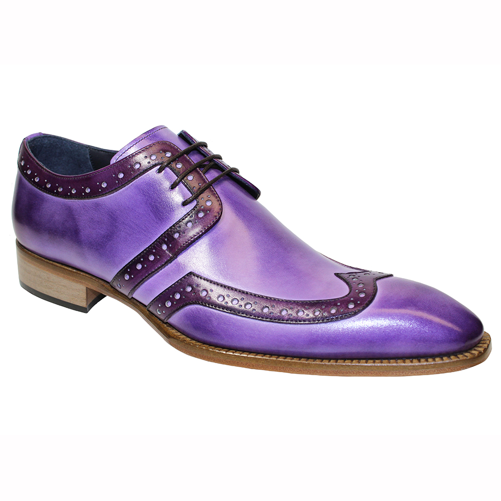 Duca by Matiste Savona Leather Shoes Lavender / Purple Image