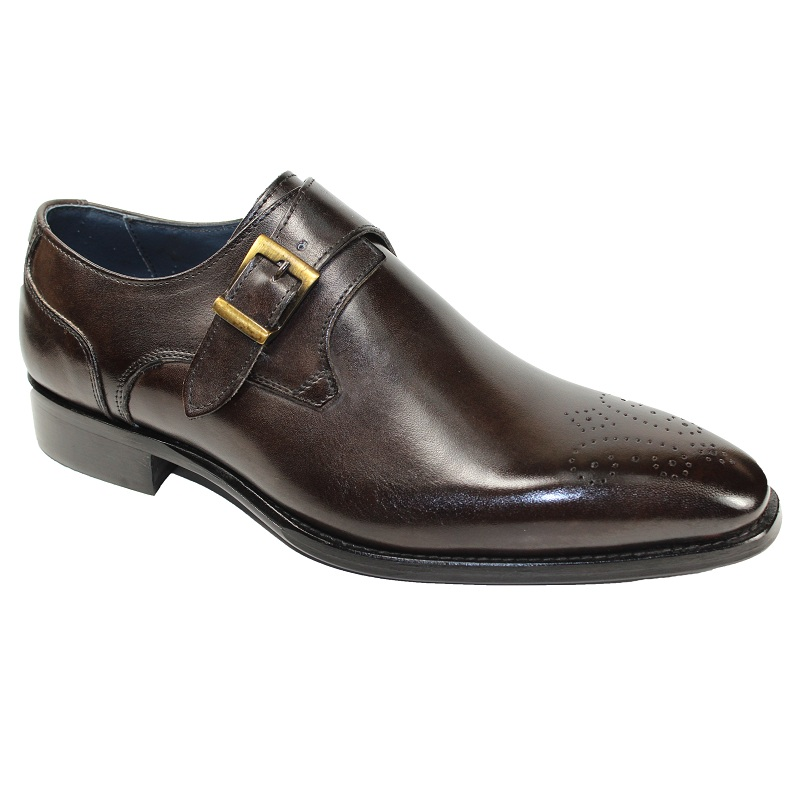 Duca by Matiste Siena Monk Strap Shoes Chocolate Image