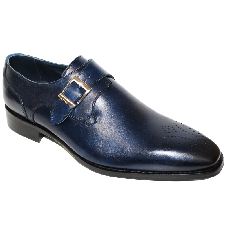 Duca by Matiste Siena Monk Strap Shoes Navy Image