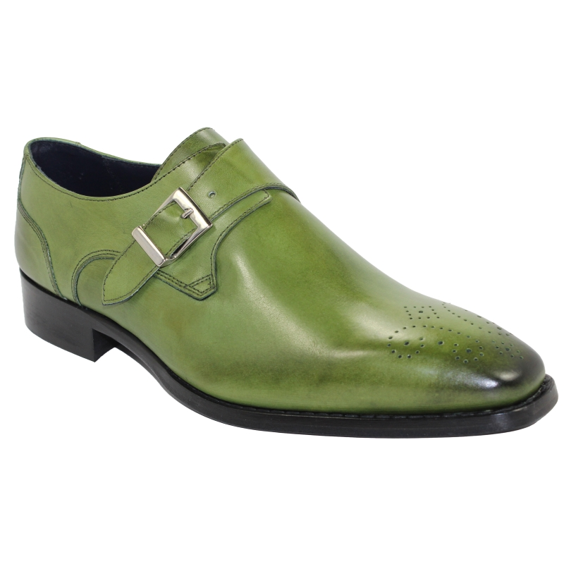 Duca by Matiste Siena Monk Strap Shoes Olive Image