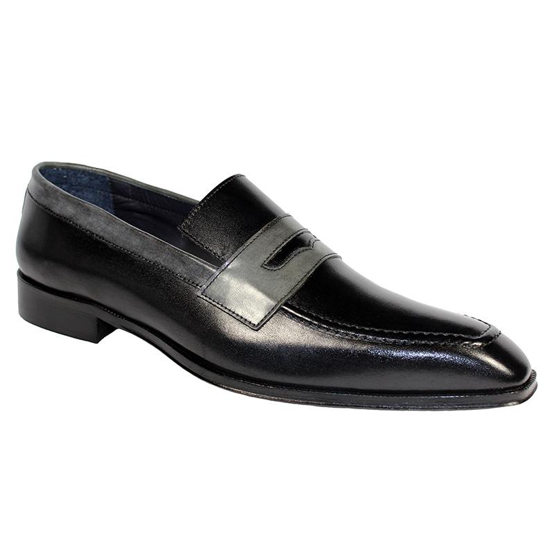 Duca by Matiste Terni Calfskin Shoes Black Grey Image
