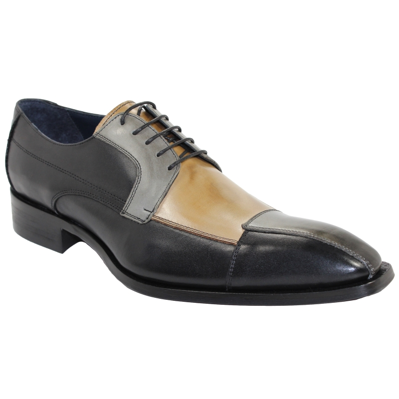 Duca by Matiste Torino Black Tri Tone Shoes Image
