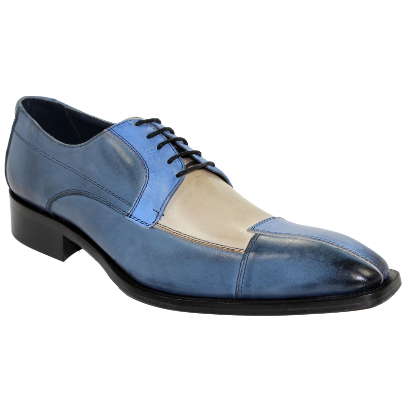 Duca by Matiste Torino Blue Tri Tone Shoes Image