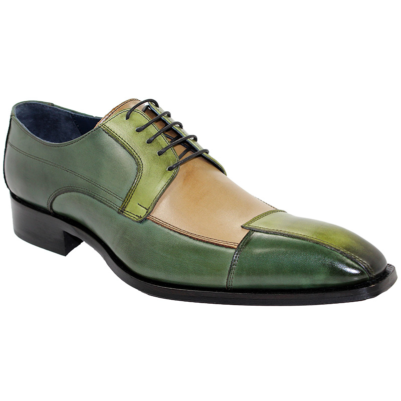 Duca by Matiste Torino Green Tri Tone Shoes Image