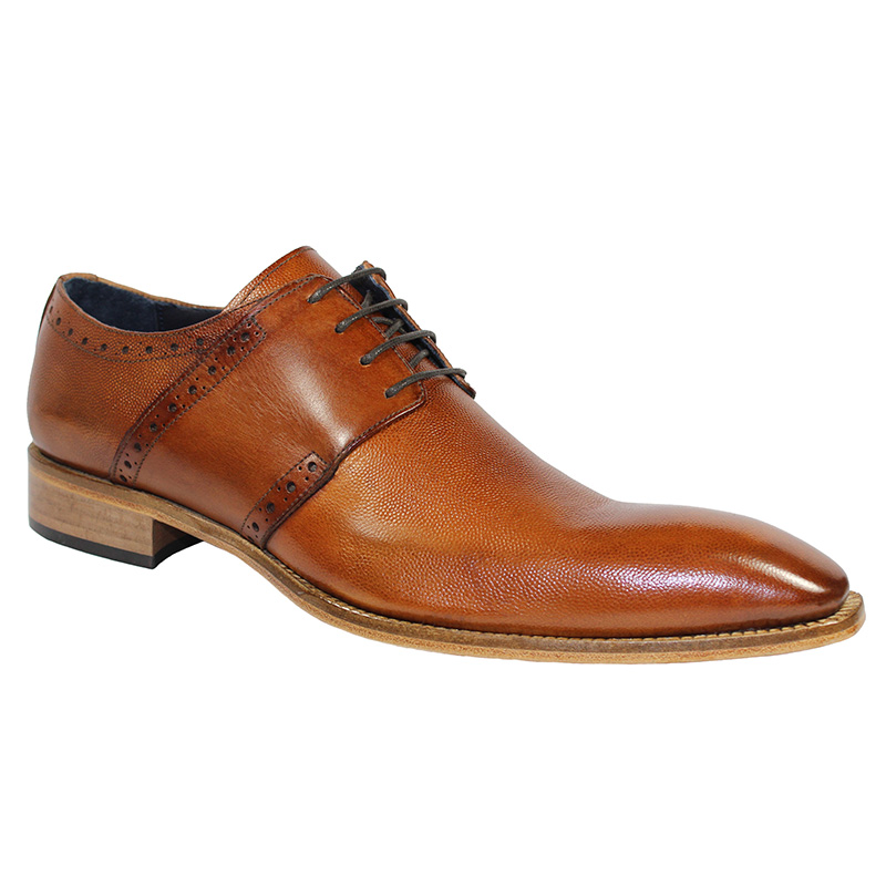 Duca by Matiste Treviso Calfskin Print Shoes Cognac Image