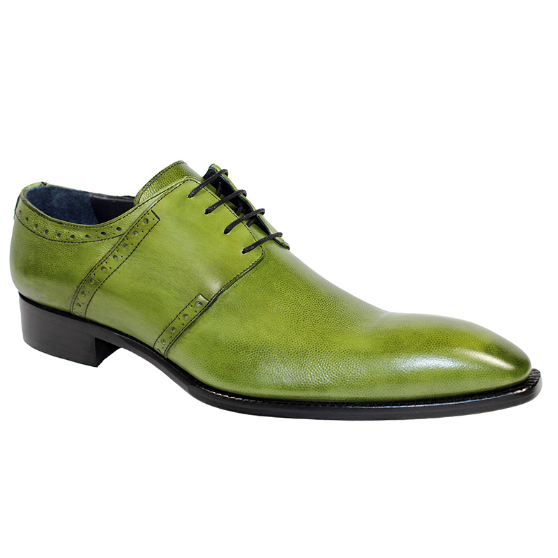 Duca by Matiste Treviso Calfskin Print Shoes Olive Image