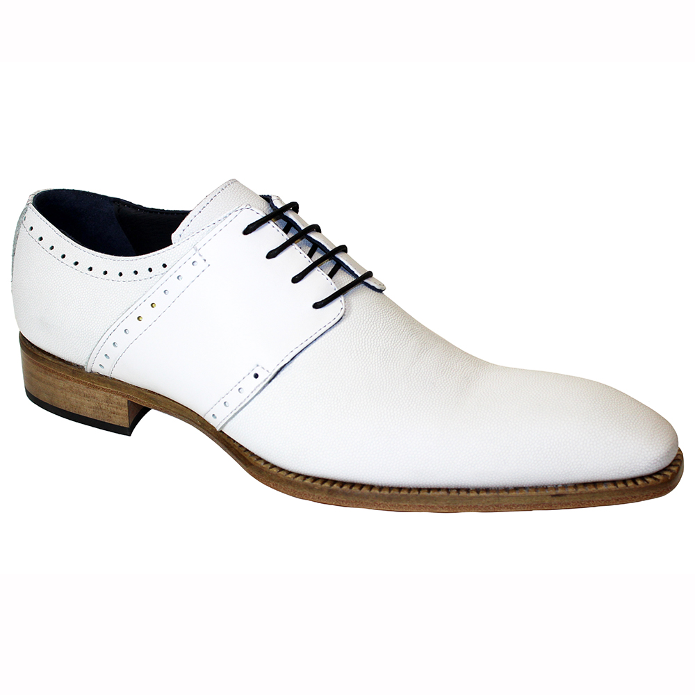 Duca by Matiste Treviso Pebble Print & Leather Shoes White Image