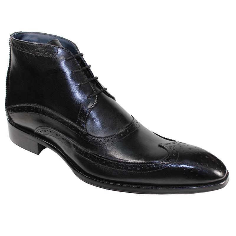 Duca by Matiste Udine Calfskin Boots Black Image