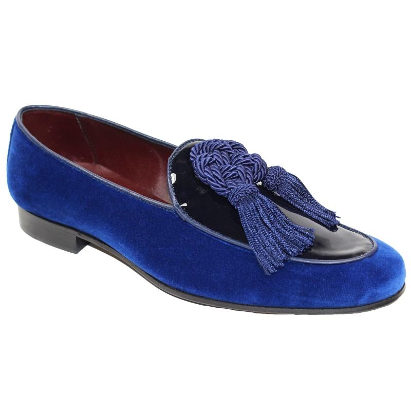Duca by Matiste Venezia Tassel Loafers Blue Image