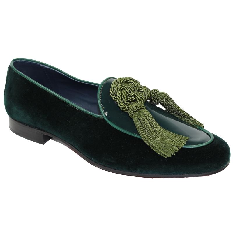 Duca by Matiste Venezia Tassel Loafers Green Image