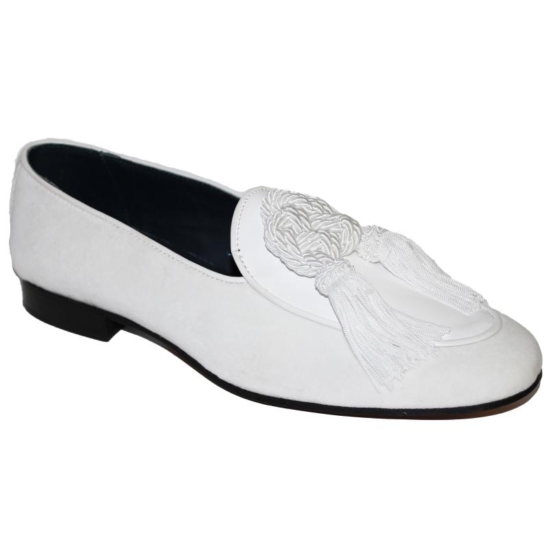 Duca by Matiste Venezia Tassel Loafers White Image
