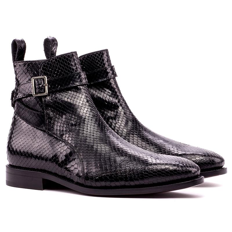 Emanuele Sempre Jodhpur Python Boot Black Image