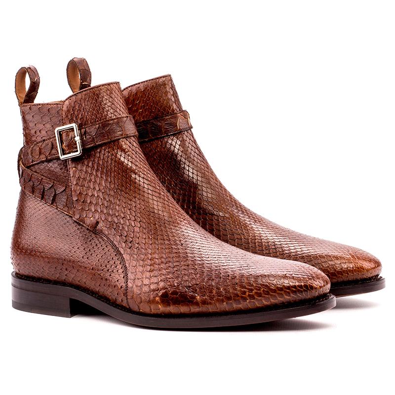 Emanuele Sempre Jodhpur Python Boots Med Brown Image