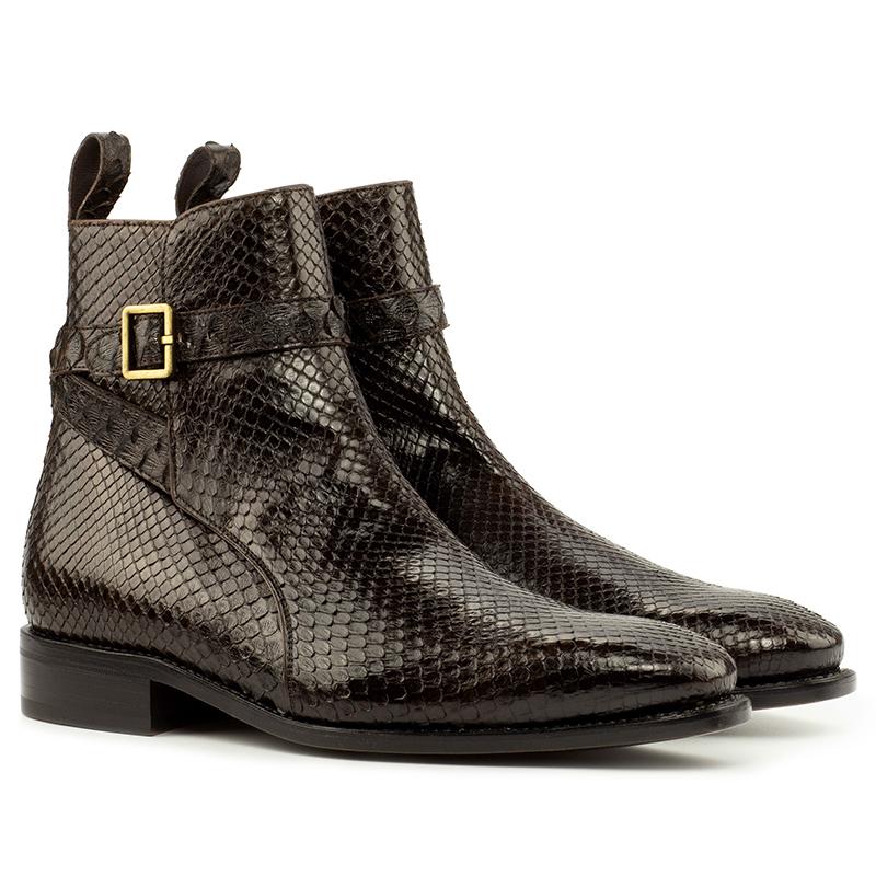 Emanuele Sempre Jodhpur Python Shoes Dark Brown Image