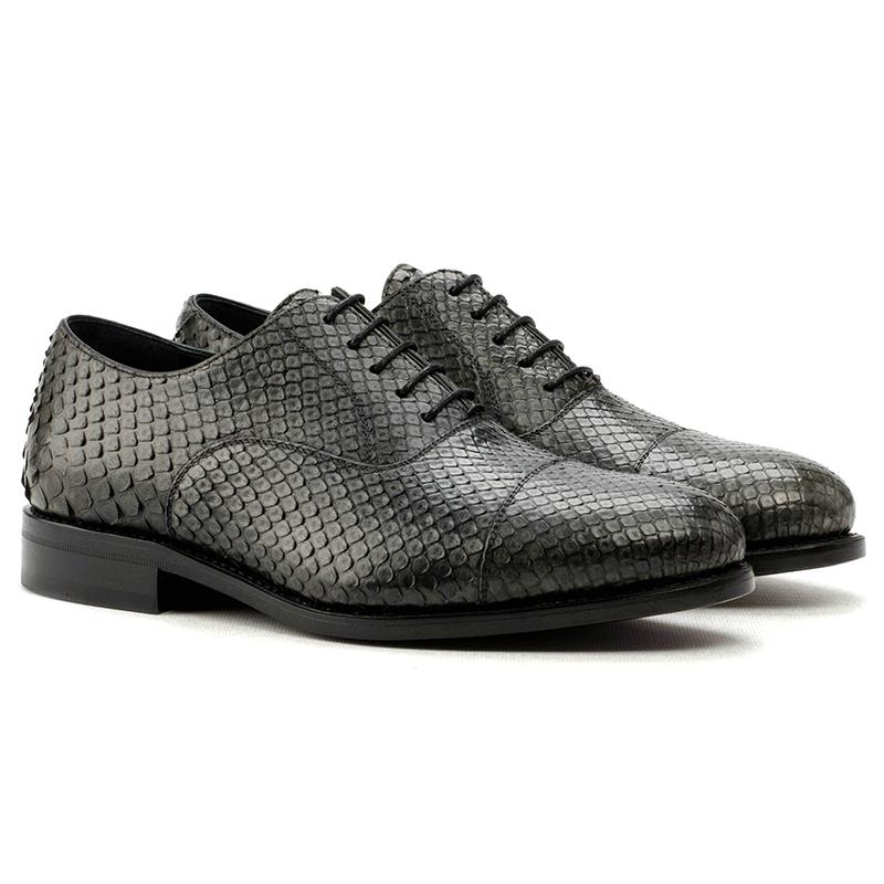 Emanuele Sempre Oxford Python Shoes Grey Image