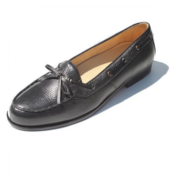 Alan Payne Dino Deerskin Loafers Black Image