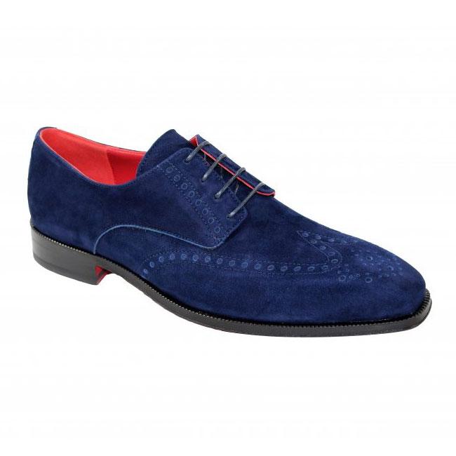 Emilio Franco 185 Wingtip Suede Shoes Navy  Image