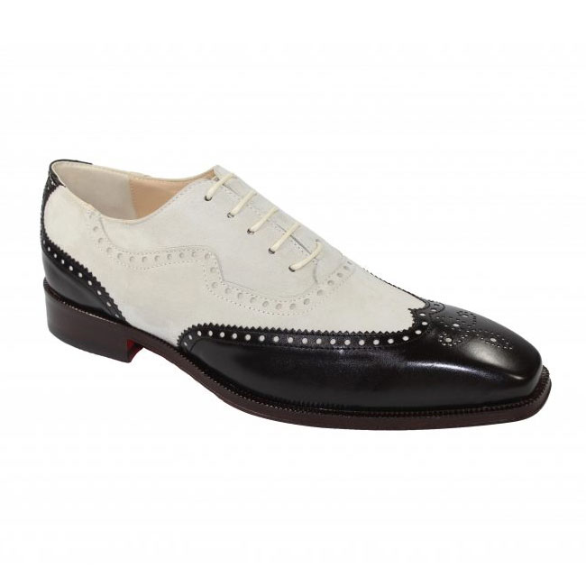 Emilio Franco 203 Chocolate / Bone Wingtip Shoes Image