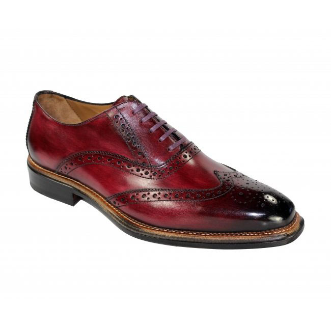 Emilio Franco 211 Burgundy Shoes Image