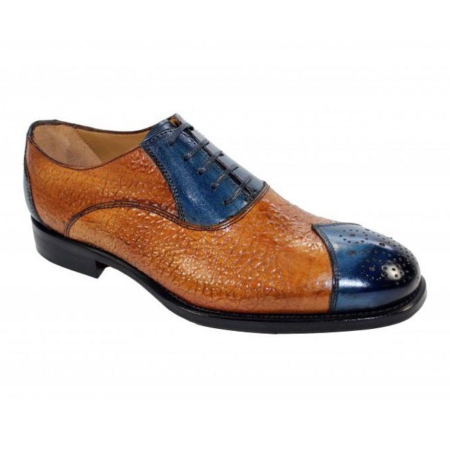 Emilio Franco 302 Blue / Cognac Shoes Image