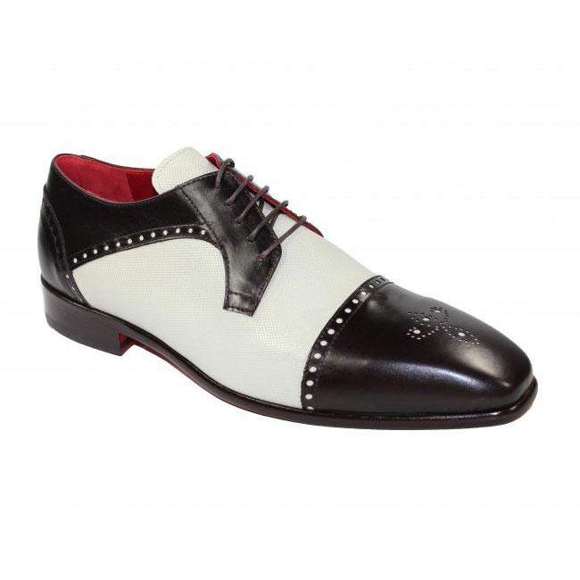 Emilio Franco 302 Chocolate / Bone Cap Toe Shoes Image