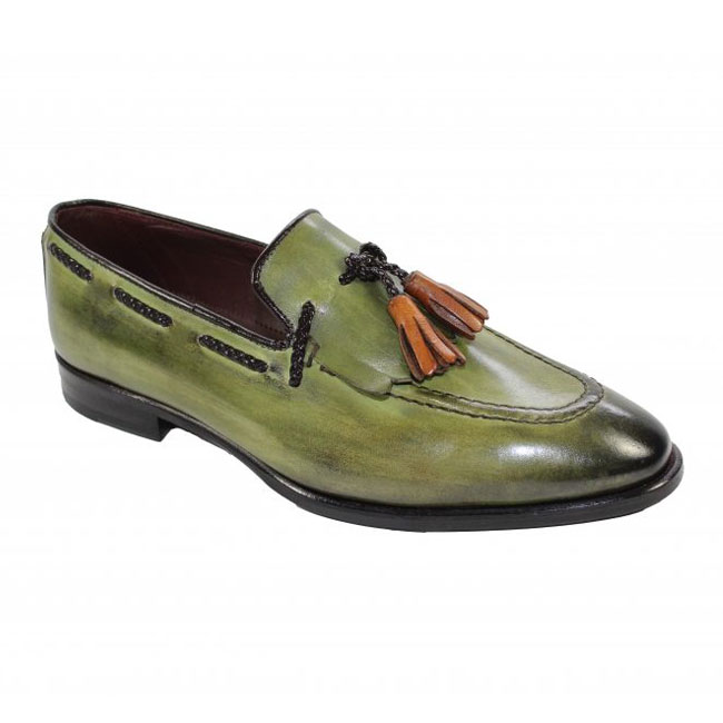 Emilio Franco 73 Olive Shoes Image