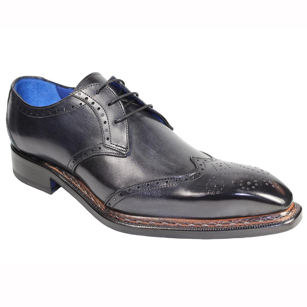 Emilio Franco Adamo Leather Shoes Dark Gray Image