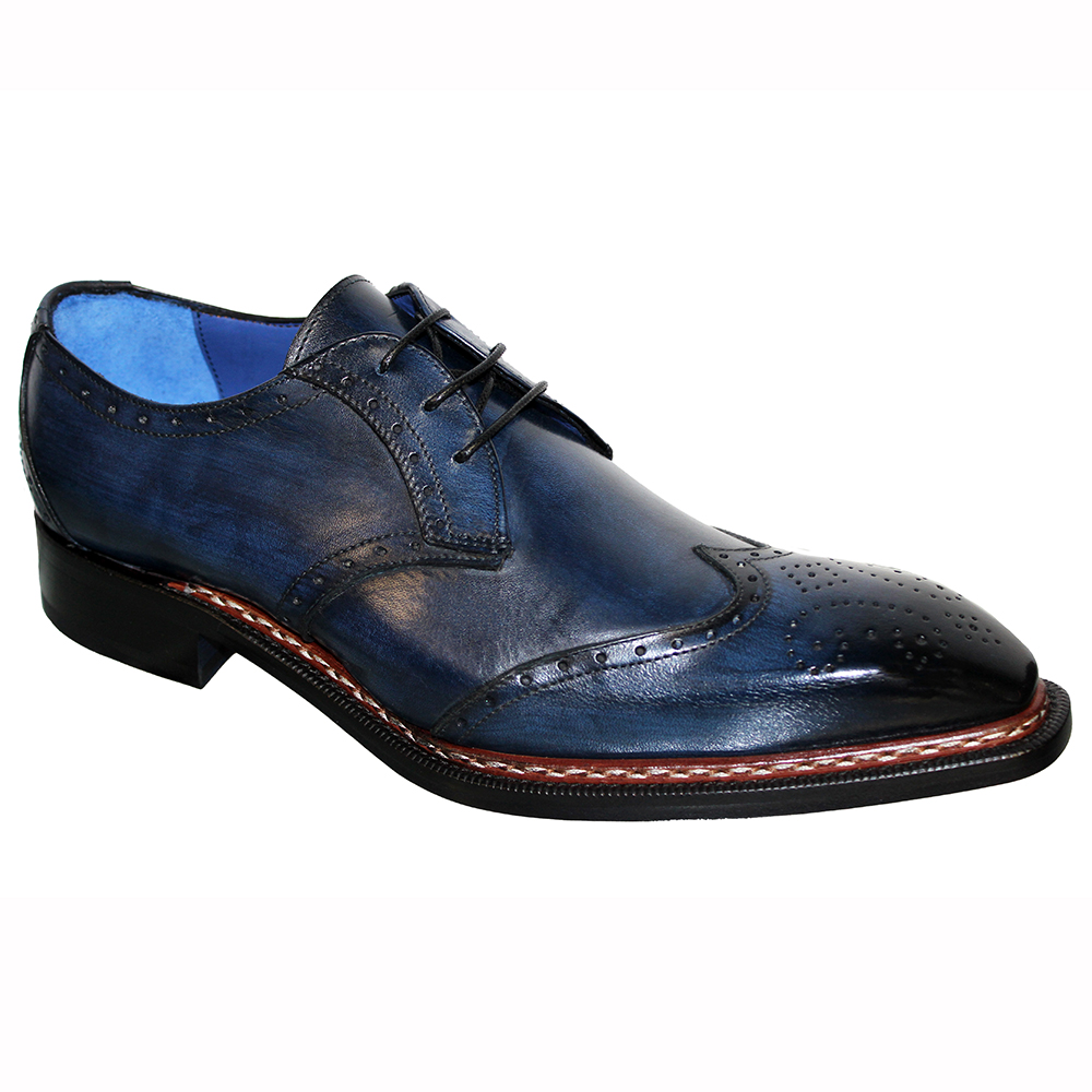 Emilio Franco Adamo Leather Shoes Navy Image