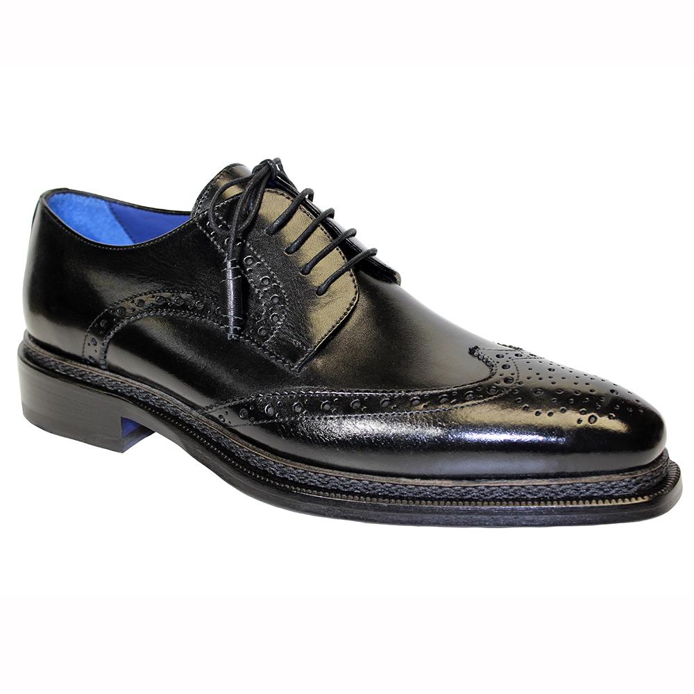 Emilio Franco Adriano Leather Shoes Black Image