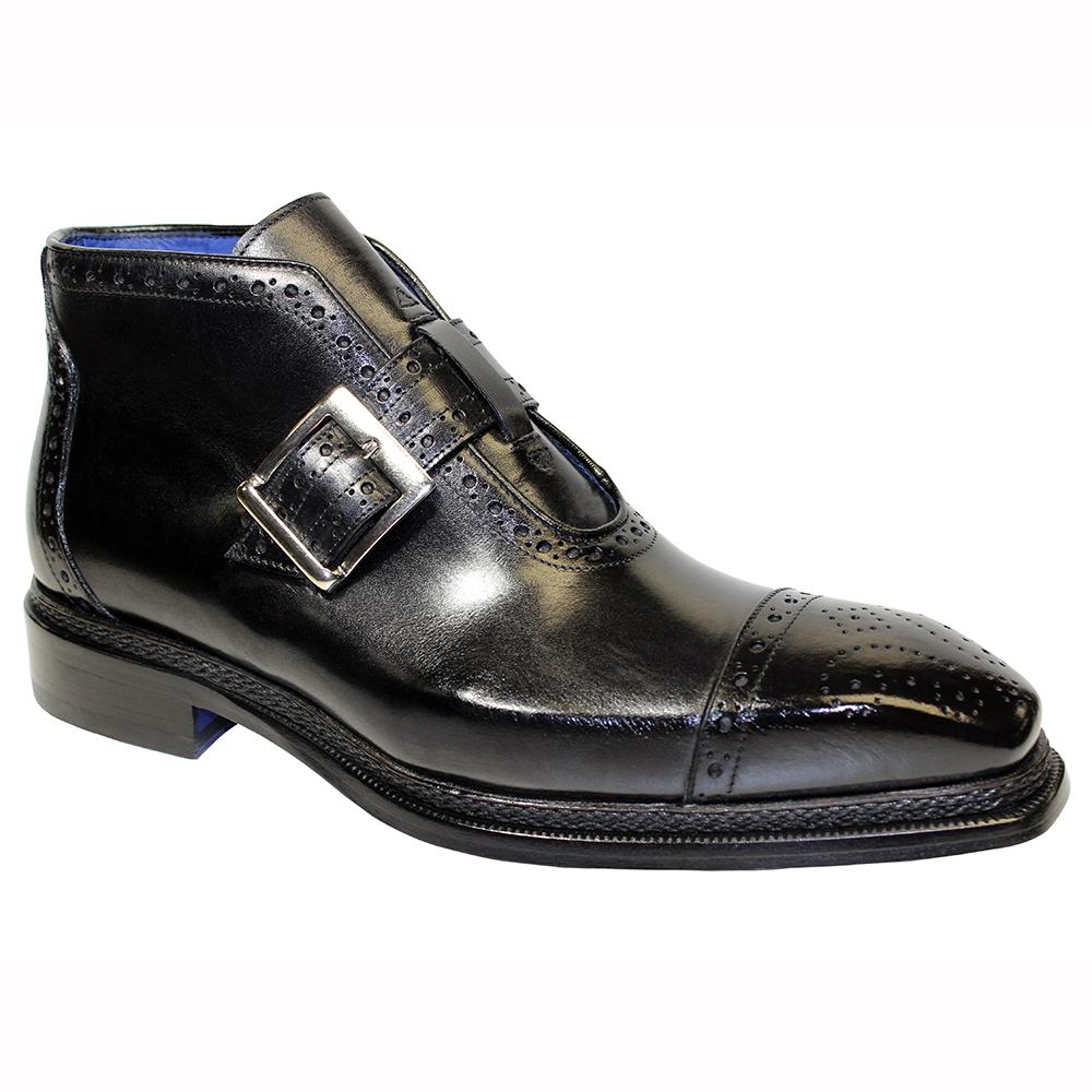 Emilio Franco Aldo Leather Boots Black Image
