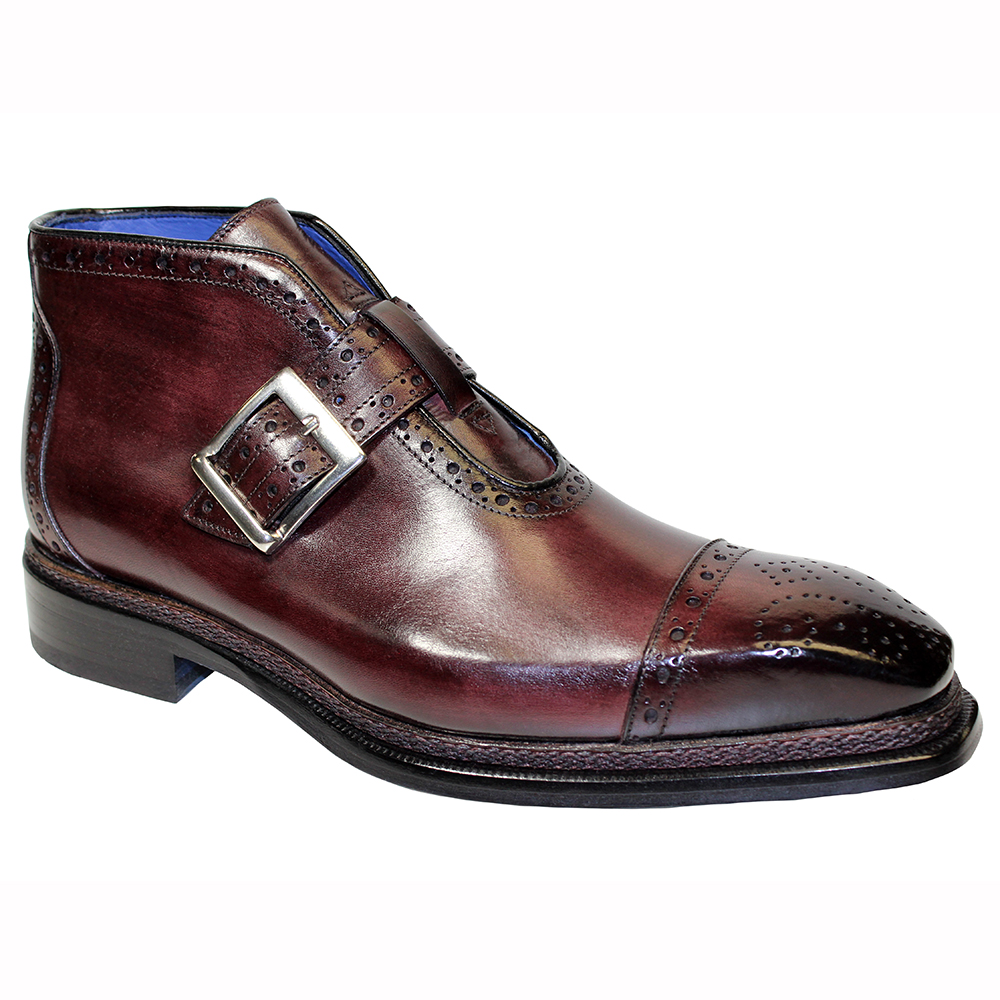Emilio Franco Aldo Leather Boots Burgundy Image