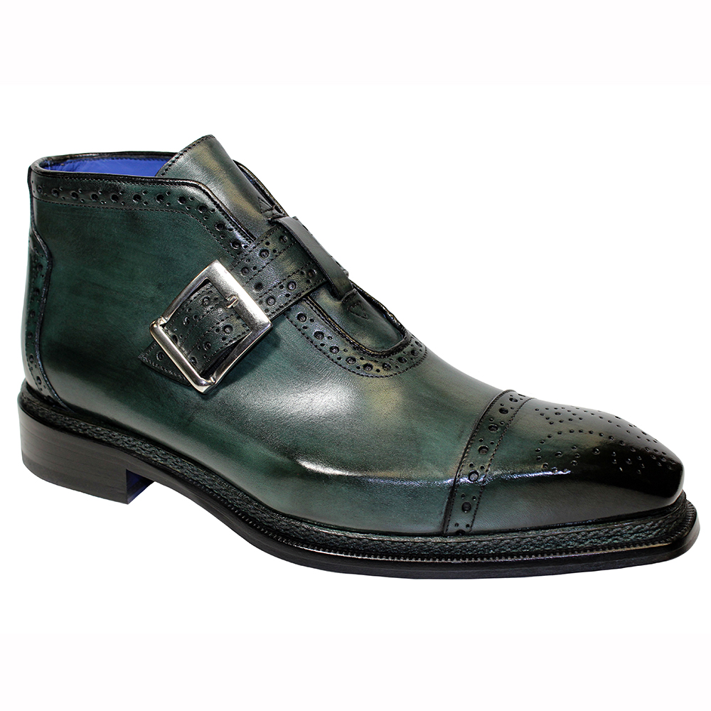 Emilio Franco Aldo Leather Boots Green Image