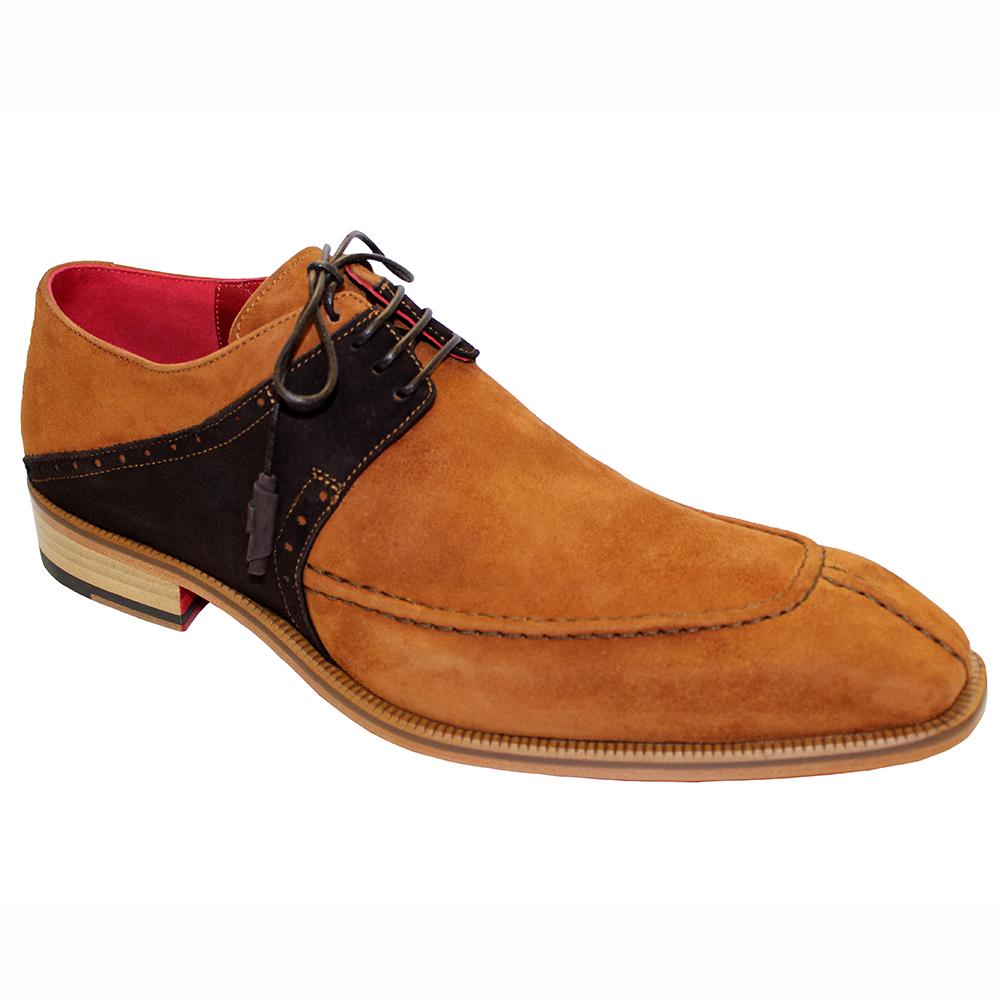 Emilio Franco Amadeo Suede Shoes Cognac / Chocolate Image