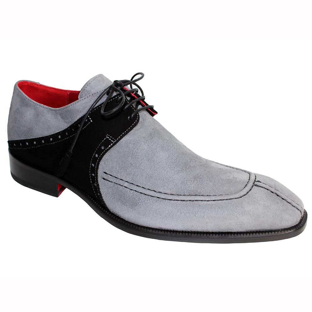 Emilio Franco Amadeo Suede Shoes Gray / Black Image