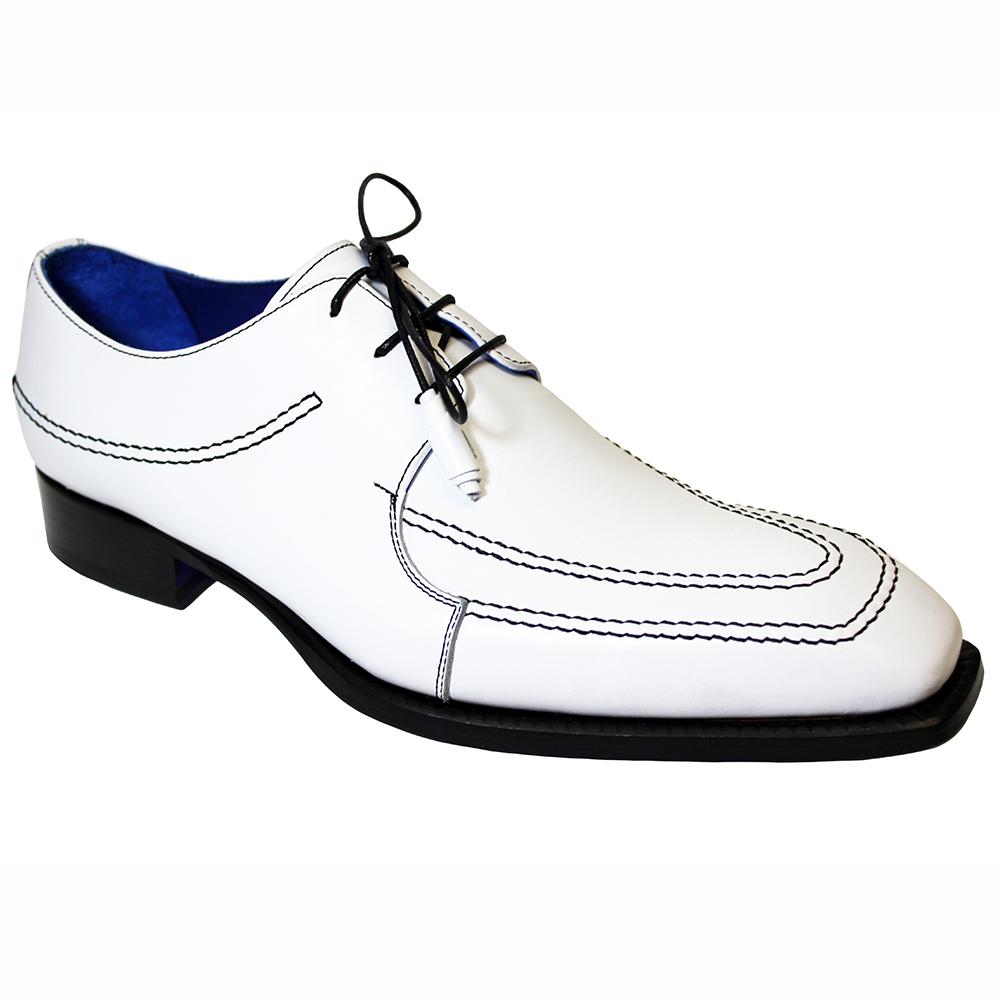 Emilio Franco Amato Leather Shoes White / Black Image