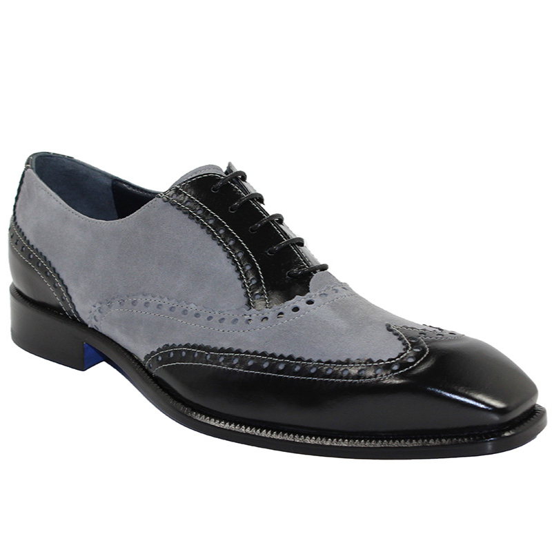 Emilio Franco Antonio Black/Grey Shoes Image