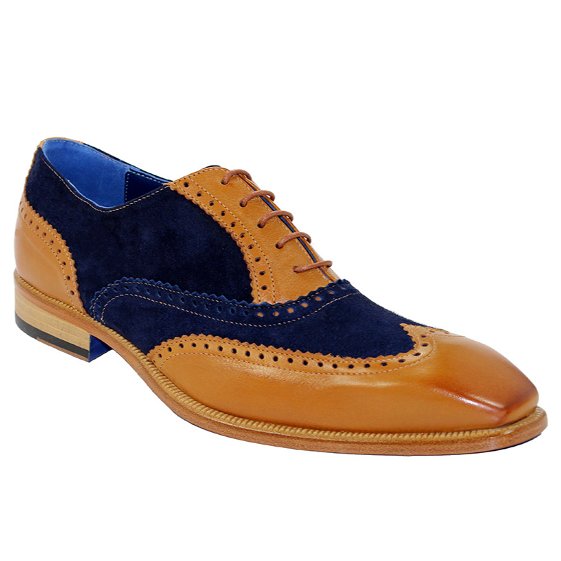 Emilio Franco Antonio Cognac/Navy Shoes Image