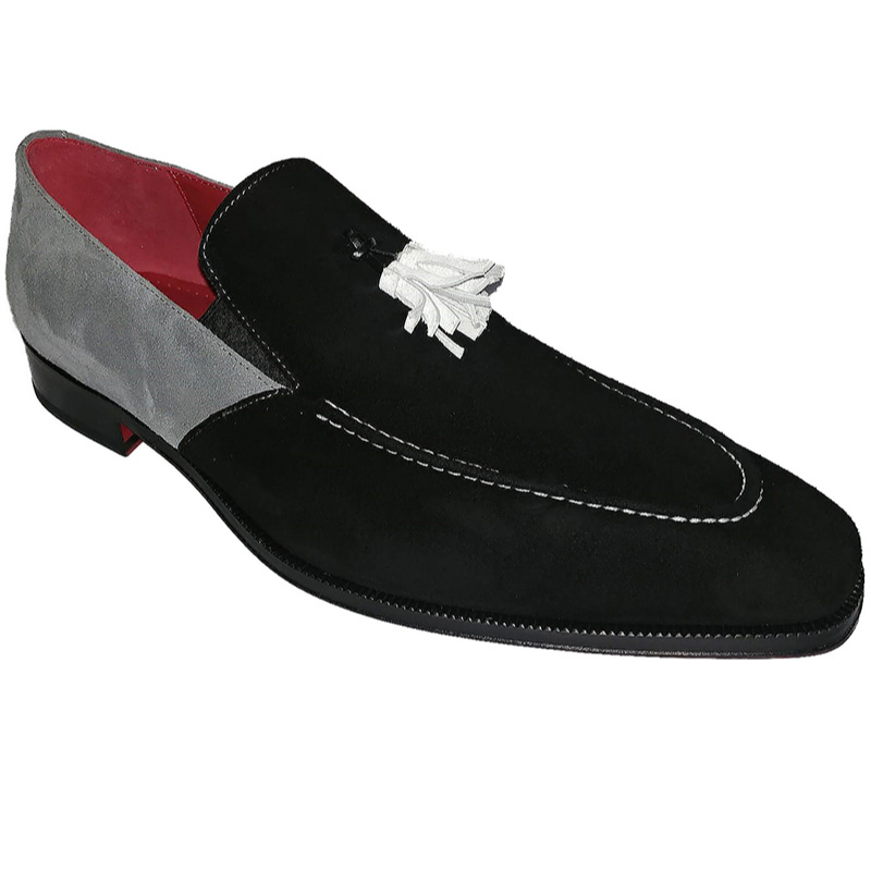 Emilio Franco Daniele Suede Black Shoes Image