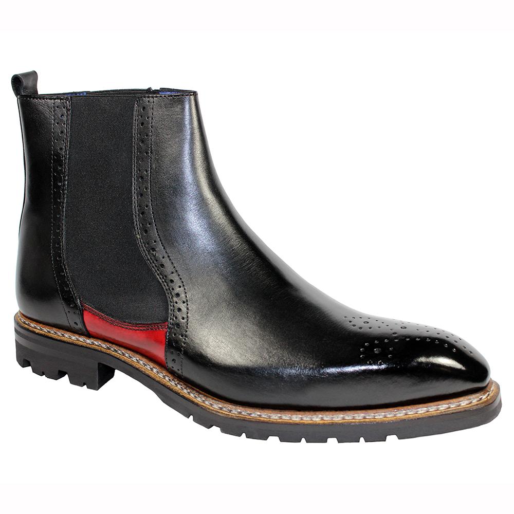 Emilio Franco Dario Leather Boots Black / Red Image