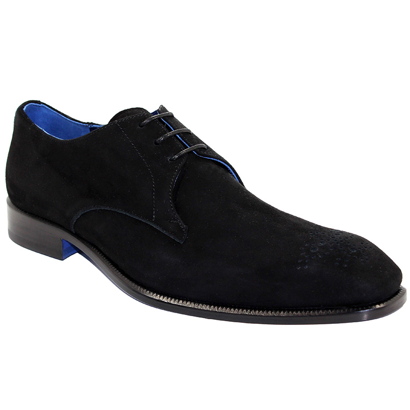Emilio Franco Diego Suede Black Shoes Image
