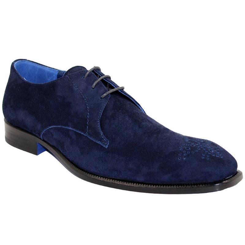Emilio Franco Diego Suede Navy Shoes Image