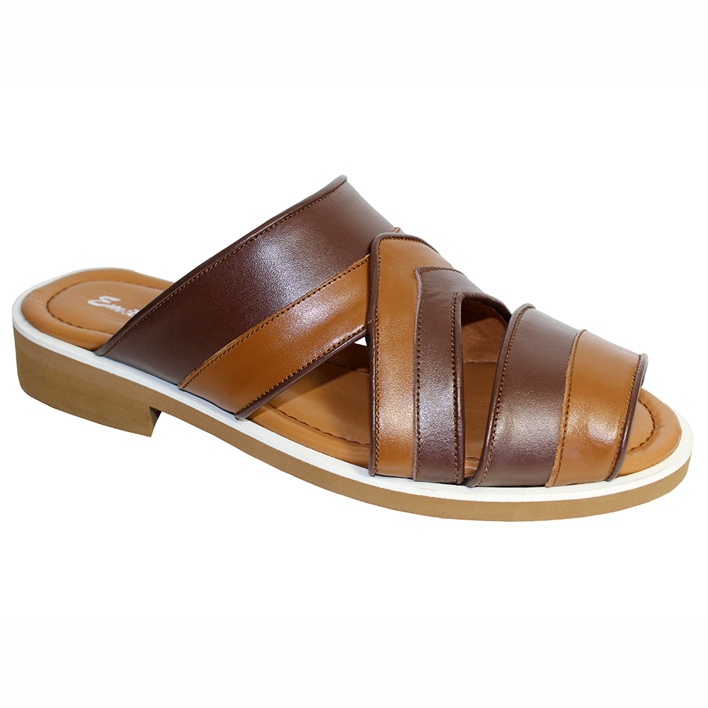 Emilio Franco EF118 Leather Sandals Tan / Brown Image