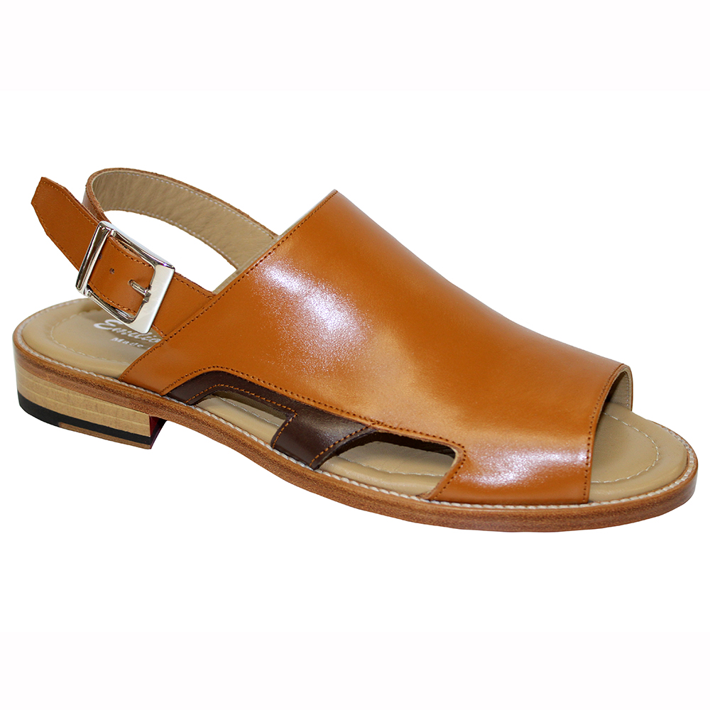 Emilio Franco EF122 Leather Sandals Cognac / Brown Image