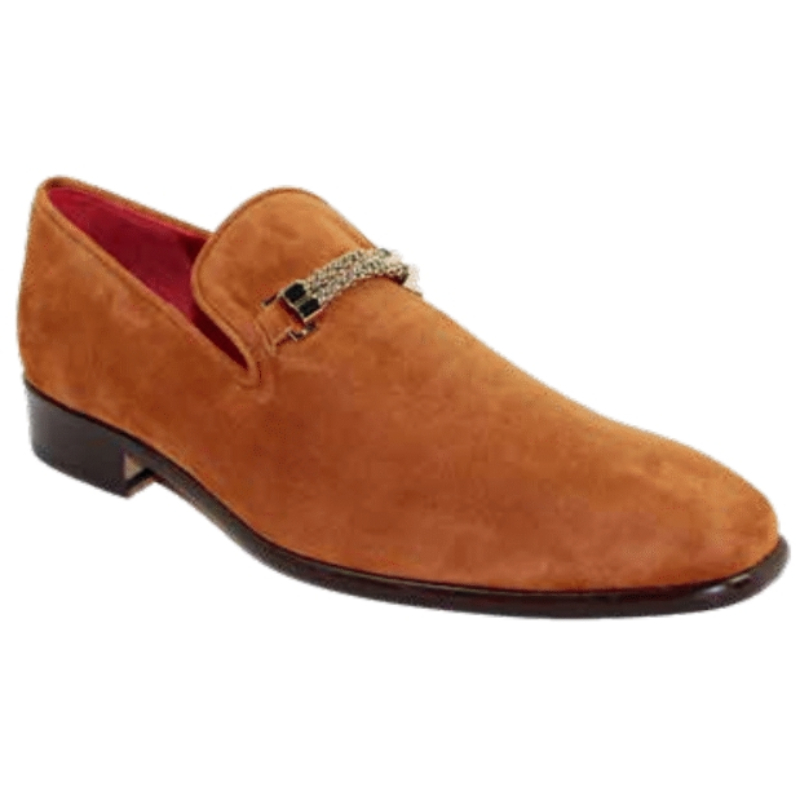 Emilio Franco Francesco Suede Cognac Shoes Image
