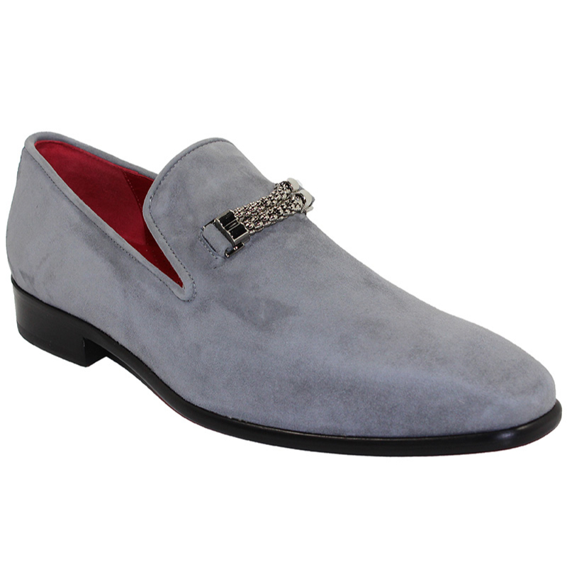 Emilio Franco Francesco Suede Grey Shoes Image