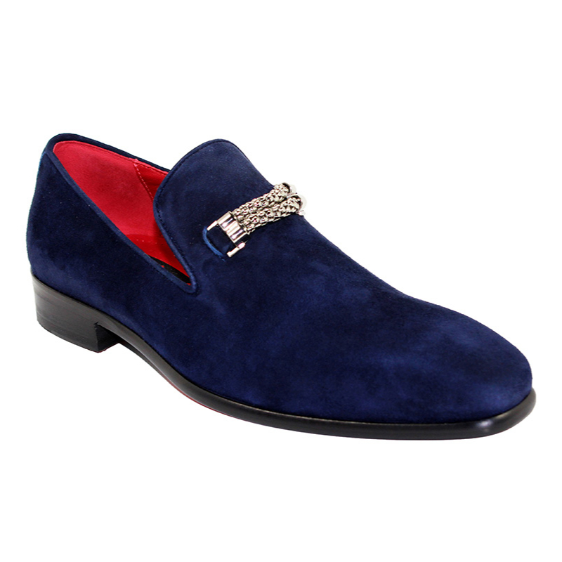 Emilio Franco Francesco Suede Navy Shoes Image