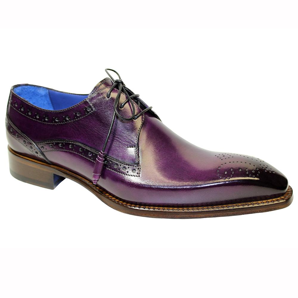 Emilio Franco Giacamo Leather Shoes Purple Image