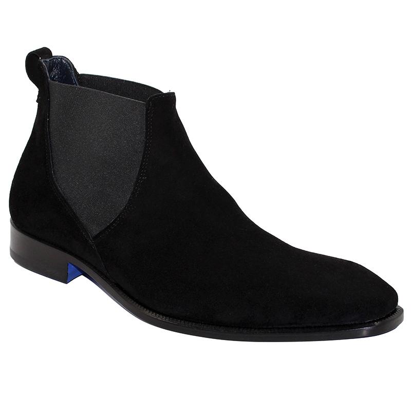 Emilio Franco Leonardo Suede Black Boots Image