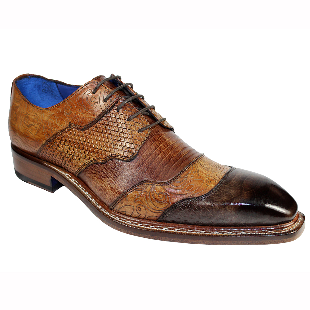 Emilio Franco Martino Leather Shoes Brown Combo Image