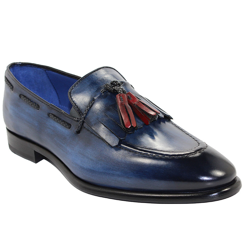 Emilio Franco Matteo Navy Shoes Image